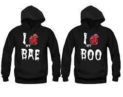halloween matching hoodies i love my bae i love my boo price