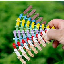 Garden Diy Crafts - aliexpress com buy 50pcs fairy garden wooden fence crafts diy