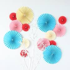 paper fan circle decorations 10 25cm tissue paper fan flower for mariage casamento birthday