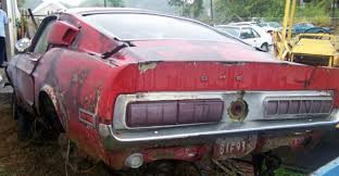 mustang salvage yard shelby saving classics gt 500 barn finds and