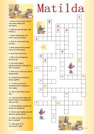 matilda crossword worksheet free esl printable worksheets made