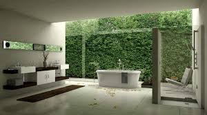Grey Modern Bathroom Bathroom Luxurious Modern Bathroom Ideas Showing Green Fence