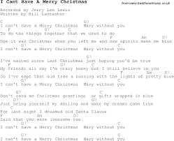 carol song lyrics with chords for i cant a merry