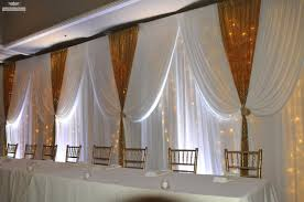 wedding drapery fabric draping