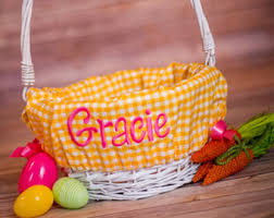 personalized basket personalized easter basket liner personalized basket liner