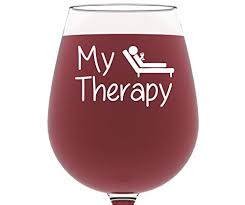 wine christmas gifts my therapy wine glass 13 oz best christmas gifts for women