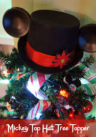mickey top hat tree topper tree toppers mickey mouse christmas