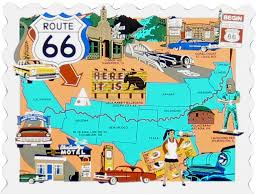 us route 66 arizona map historic route 66 map the cat s meow
