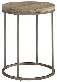 alana acacia wood top round end table from casana coleman furniture