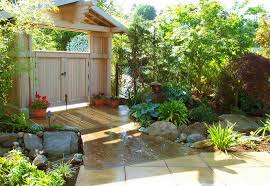 Front Door Arbor by Amazing Peaceful Backyard Design Ideas Showcasing L Shape Wooden