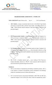 shareholder agreement template free download create edit fill