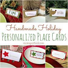 handmade holiday place cards