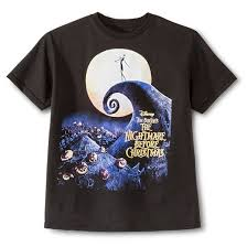 disney the nightmare before boys t shirt black xl