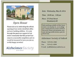 Open House Invitation An Invitation To Our Open House Alzheimer Society Of Oxford