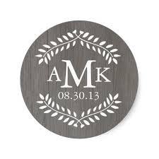 monogram stickers 3 8cm rustic country wedding monogram stickers on aliexpress