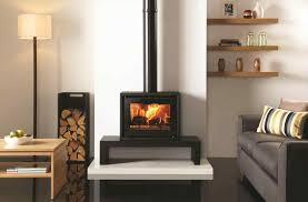 contemporary free standing modern wood stove wood burning