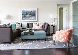 beautiful dark grey couch family room transitional with coffee