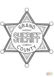 sheriff badge coloring page free printable coloring pages