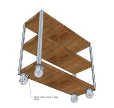 ana white build a easiest industrial cart free and easy diy