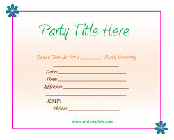 party invitations simple party invite template ideas wedding