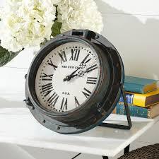 cool house clocks w7398 iron porthole clock wall art 89 wisteria beach inspired