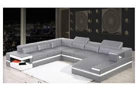 canapé d angle panoramique avec méridienne en cuir italien