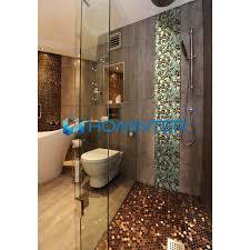 Tile Bathroom Backsplash Porcelain Tile Pebbles Random Bricks Glazed Ceramic Mosaic Backsplash