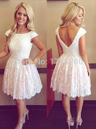 pretty graduation dresses aliexpress buy lovely back see through pearls lace