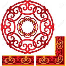 oriental design conjunto de elementos de diseño oriental ilustraciones vectoriales