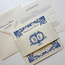 Traditional Wedding Invitation Card French Blue Traditional Wedding Invitation By Claryce Design