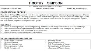 Chef Resume Objective Profile On Resume Sample List Of Dissertation Hair And Makeup