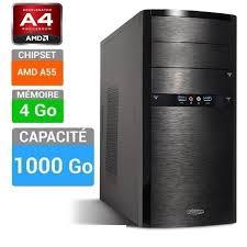 ordinateur de bureau sans unité centrale pc bureau a4 4000 assemblé sans os 4 go 1 to prix pas cher