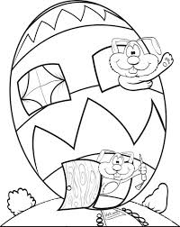 free printable easter egg house coloring kids