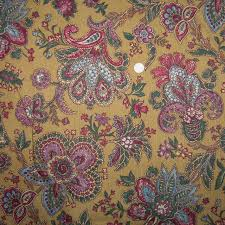 Vintage Floral Upholstery Fabric Vintage Fabric Vintage Barkcloth Fabric Vintage Quilt Fabric
