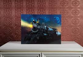 lighted canvas art with timer radiance lighted canvas w timer locomotive train engine train