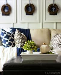 Blue And Brown Living Room by Blue Brown Fall Decor