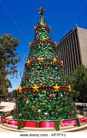 christmas decorations in melbourne victoria australia stock
