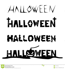 hand drawn font shapes for halloween stock illustration image