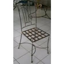 chaises en fer forgé lot de 2 chaises fer forgé chris