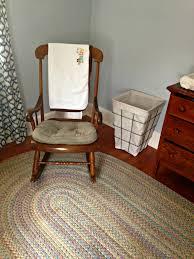 Dark Wood Nursery Furniture Sets by Furniture Dark Wood Rocking Chair For Nursery With White Cushions