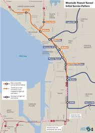 El Train Chicago Map proposal for new joint bus rail tunnel for downtown seattle