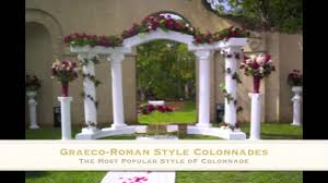 wedding arches and columns wholesale wedding columns empire columns and colonnades