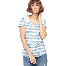 mantaray clothing mantaray multi coloured striped v neck top mantaray clothing