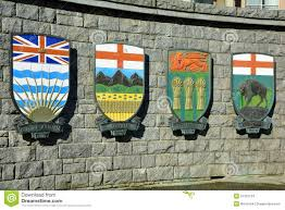 Flag British Columbia Canadian Coats Of Arms For Alberta And Bc And Saskatchewan And