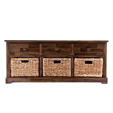 amazon com winsome wood milanwood storage bench in antique walnut