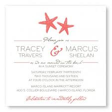 starfish wedding invitations starfish square wedding invitations