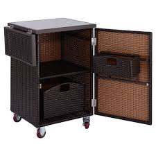Rattan Kitchen Furniture by Brown Rattan Wicker Kitchen Trolley Cart Kitchen U0026 Dining Carts