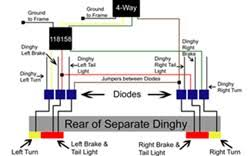 diode installation instructions for a dinghy with separate tail