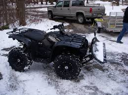 which snow plows are you using grizzly riders yamaha grizzly