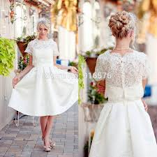 wedding dress with bolero free lace bolero wedding dresses 2015 a line tea length reception